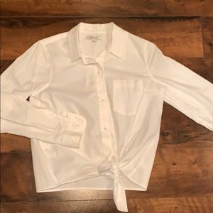 NWOT Madewell Button Down Tie Shirt